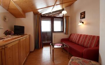 Appartement 3 - Wohnbereich - Schlafcouch